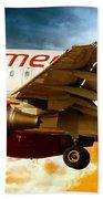 Virgin America A320 Beach Towel