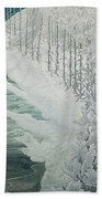Virgin Of The Lilies Beach Towel by Carlos Schwabe