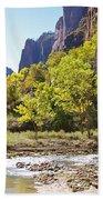 Virgin River In Zion National Park Beach Towel