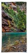 Virgin River Zion National Park Utah Beach Towel
