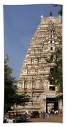 Virupaksha Temple In Hampi Beach Towel