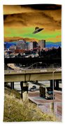 Visiting Spokane Beach Towel