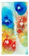 Vitality - Contemporary Art By Sharon Cummings Beach Towel