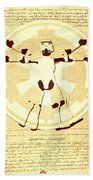 Vitruvian Stormtrooper Ghost Beach Towel