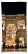 Vittorio Emanuele II Gallery Beach Towel by Michal Bednarek