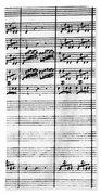 Vivaldi Manuscript Beach Sheet