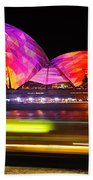 Vivid Sydney By Kaye Menner - Opera House ... Triangles Beach Towel