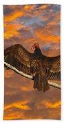 Vivid Vulture Beach Towel by Al Powell Photography USA