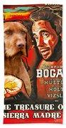 Vizsla Art Canvas Print - The Treasure Of The Sierra Madre Movie Poster Beach Towel