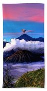 Volcano In The Clouds Beach Towel