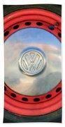 Volkswagen Vw Wheel Emblem Beach Towel