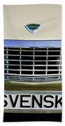 Volvo Grille Emblem -0198c Beach Towel