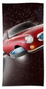 Volvo P1800 Goes Back To The Future Beach Towel