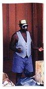 Voodoo Busker In New Orleans Beach Towel