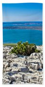 Vransko Lake And Kornati Islands Beach Towel