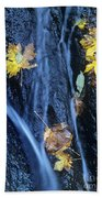 Wachlella Falls Detail Columbia River Gorge Beach Towel