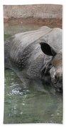 Wading Rhinos Beach Towel