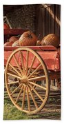Wagon Full Of Pumpkins Beach Towel