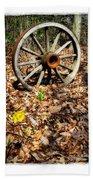 Wagon Wheel Daffodil Beach Towel
