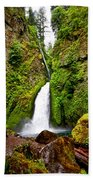Wahclella Falls In Oregon Beach Towel