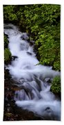 Wahkeena Falls In Oregon Beach Towel
