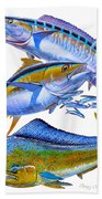 Wahoo Tuna Dolphin Beach Towel