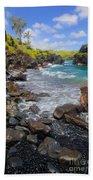 Waianapanapa Rocks Beach Towel