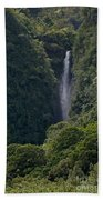 Wailua Stream Waiokane Falls View From Wailua Maui Hawaii Beach Towel