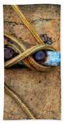 Waiting - Boat Tie Cleat By Sharon Cummings Beach Towel