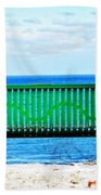 Waiting For Summer - The Green Bench Beach Towel
