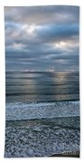 Waiting For Sunset Beach Towel