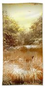 Walden Pond In Pennsylvania Beach Towel