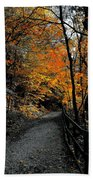 Walk In Golden Fall Beach Towel