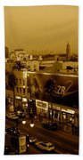Walk Of Fame Hollywood In Sepia Beach Towel