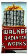 Walker Radiator Works Sign Beach Towel