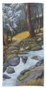 Walking In The Woods One Day Beach Towel