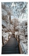 Walking Into The Infrared Jungle 3 Beach Towel