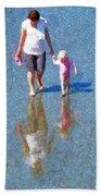Walking On Water Beach Sheet