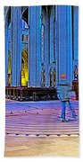 Walking The Indoor Labyrinth In Grace Cathedral In San Francisco-california Beach Towel