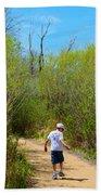 Walking The Ox Bow 2 Beach Towel