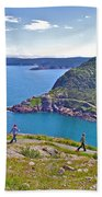 Walking Trails Everywhere In Signal Hill National Historic Site In St. John's-nl  Beach Towel