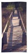 Walkway Through The Reeds Appalachian Trail Beach Towel by Edward Fielding