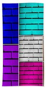 Wall Color Wall Beach Towel by Semmick Photo