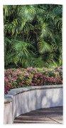Wall Of Flowers Beach Towel