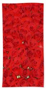 Wall Of Red Roses Beach Towel