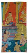 Wall Painting 2 In Wat Po In Bangkok-thailand Beach Towel