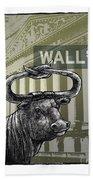 Wall Street Beach Towel