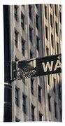 Wall Street Sign Beach Towel