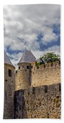 Walls Of Carcassonne Beach Towel