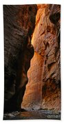 Wallstreet - The Narrows In Zion National Park. Beach Towel